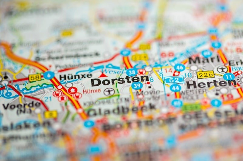 Dorsten Map